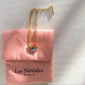 Les Nereides Flower on Faceted glass Bracelet